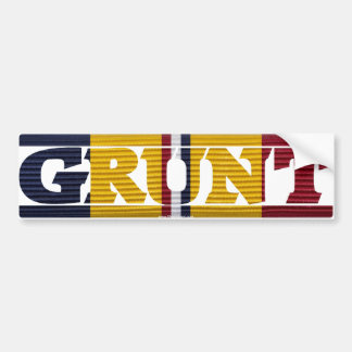 Combat Action Ribbon GRUNT Bumper Sticker