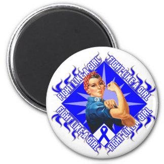 Combat anal Rosie de Cancer le rivoir Magnet Rond 8 Cm