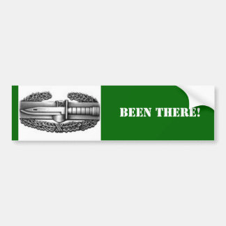 combat badge, BEEN THERE! Bumper Sticker