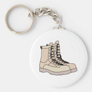 Combat Boots Basic Round Button Keychain