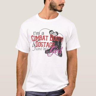 Combat Boots & Dogtags Girl T-Shirt