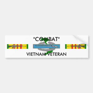 Combat bumper sticker