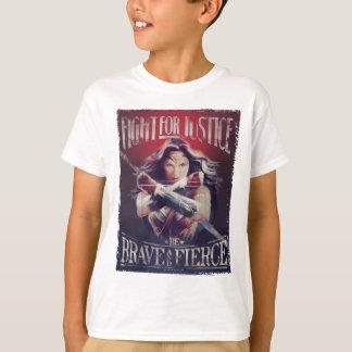 Combat de femme de merveille pour la justice t-shirt