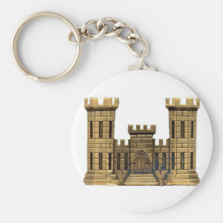 Combat Engineer Classic Button Keychain