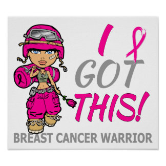 Combat Girl 2 Breast Cancer Hot Pink Poster