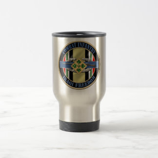 Combat Infantry OIF 4th ID Travel Mug