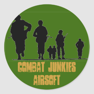 COMBAT JUNKIES AIRSOFT CLASSIC ROUND STICKER