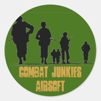 COMBAT JUNKIES AIRSOFT ROUND STICKER