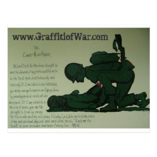 Combat Medic Prayer Postcard