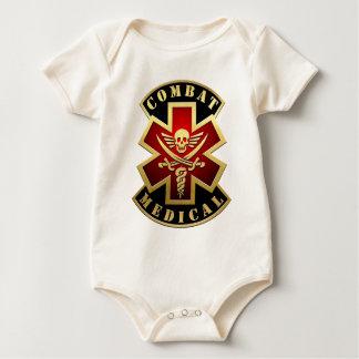Combat Medical Skull & Swords Cross Patch Baby Bodysuit