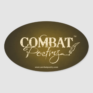 Combat Poetry Oval Sticker
