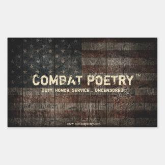 Combat Poetry Stickers