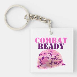 Combat Ready Pink Camouflage Helmet Keychain