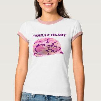 Combat Ready Pink Camouflage Helmet Tee Shirt