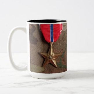 Combat Veteran and Bronze Star Coffee Mug