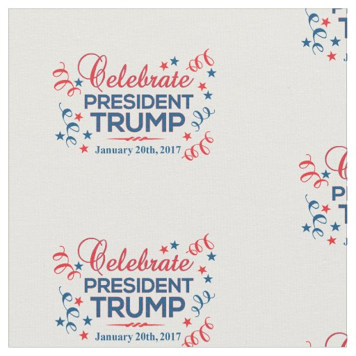 "Combed Cotton 56"" Wide Celebrate President Trump Fabric"