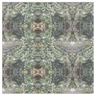 Combed Cotton Fabric - Clematis Flower Fractal D