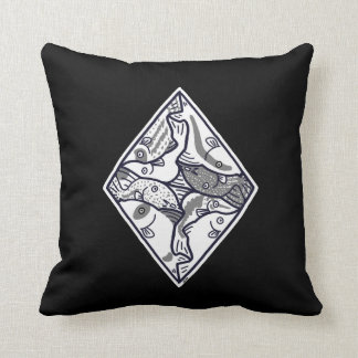 Combination of corydoras throw pillow