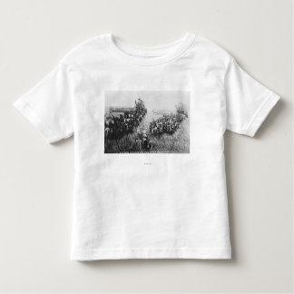 Combine Harvester Scene Toddler T-shirt