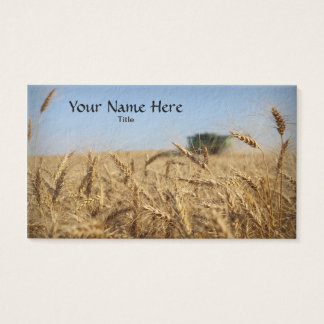 Combine in Wheat Field Business Card