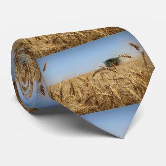 Combine in Wheat Field Tie
