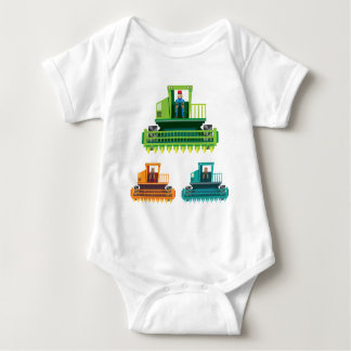 Combine with farmer inside Vector illustration Baby Bodysuit