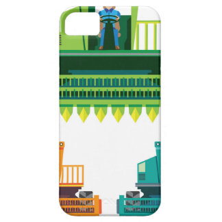 Combine with farmer inside Vector illustration iPhone 5 Cover
