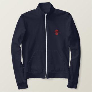 Combined ops fleece embroidered jacket