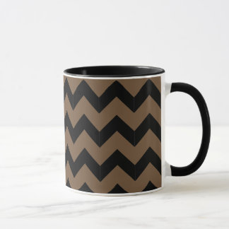 Combo 11oz Black & Brown Zig Zag Mug