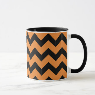 Combo 11oz Black & Orange Zig Zag Mug