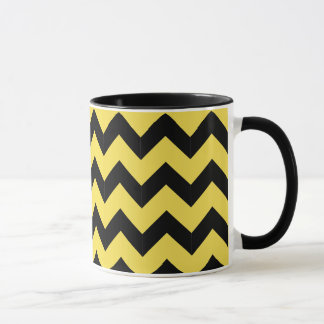 Combo 11oz Black & Yellow Zig Zag Mug