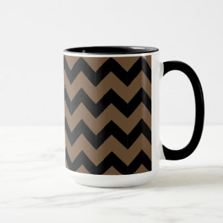 Combo 15oz Black & Brown Zig Zag Mug