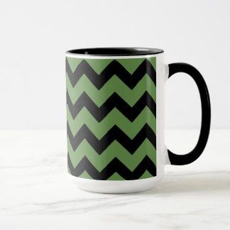 Combo 15oz Black & Green Zig Zag Mug