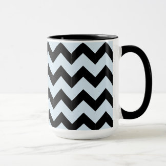 Combo 15oz Black & Light Blue Zig Zag Mug