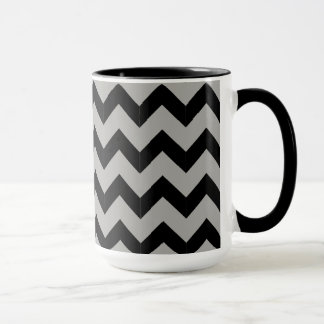 Combo 15oz Black & Orange Zig Zag Mug