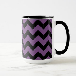 Combo 15oz Black & Purple Zig Zag Mug
