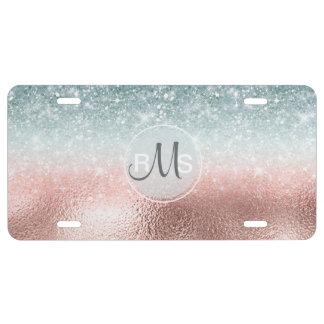 Combo Glitter Gradient Glass ID434 License Plate