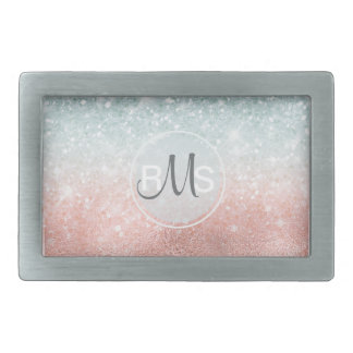 Combo Glitter Gradient Glass ID434 Rectangular Belt Buckles