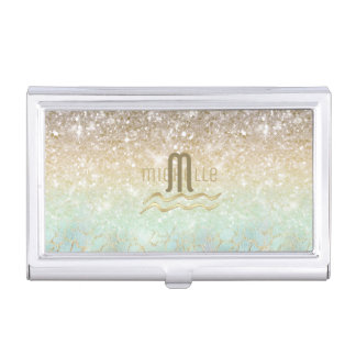 Combo Glitter Gradient Opal Gold ID435 Business Card Holder