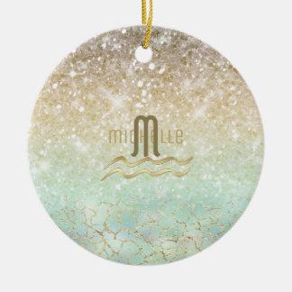 Combo Glitter Gradient Opal Gold ID435 Ceramic Ornament