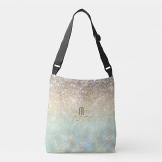 Combo Glitter Gradient Opal Gold ID435 Crossbody Bag