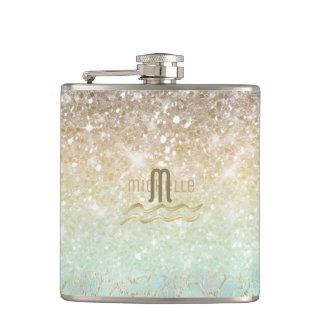 Combo Glitter Gradient Opal Gold ID435 Hip Flask