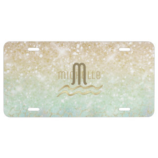 Combo Glitter Gradient Opal Gold ID435 License Plate