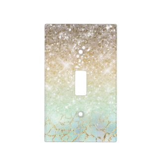 Combo Glitter Gradient Opal Gold ID435 Light Switch Cover