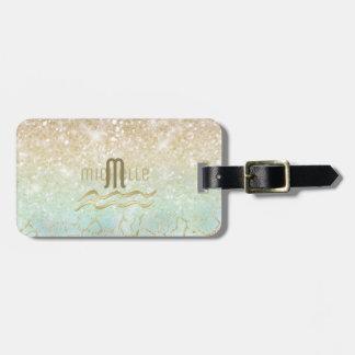 Combo Glitter Gradient Opal Gold ID435 Luggage Tag