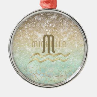 Combo Glitter Gradient Opal Gold ID435 Metal Ornament
