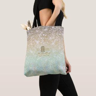 Combo Glitter Gradient Opal Gold ID435 Tote Bag