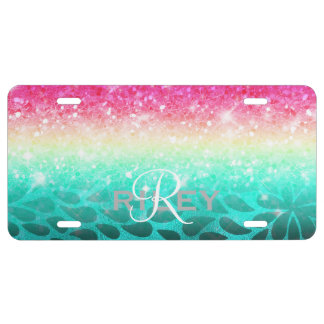 Combo Glitter Gradient to Petals ID433 License Plate