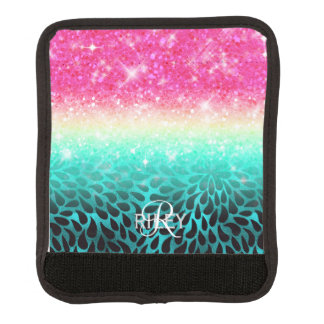 Combo Glitter Gradient to Petals ID433 Luggage Handle Wrap