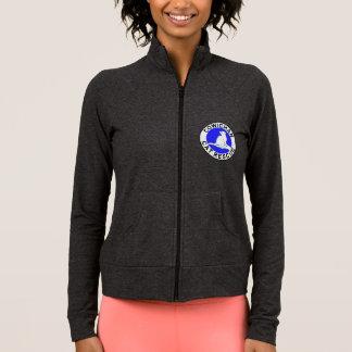 Combo: logo/black cat, grey fill jacket